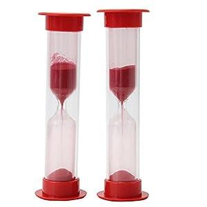 2 X Nuevo Reloj de Arena Temporizador 2 Minutos para Niños Cepillar Los Dientes de Pinzhi