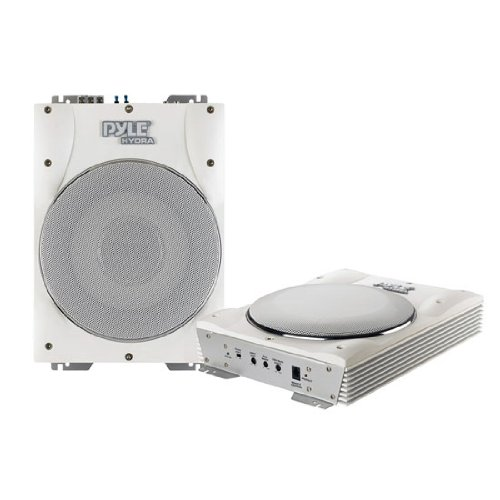 Pyle Plmrbs10 10-Inch 1000 Watts Low-Profile Super Slim Active Amplified Marine/Waterproof Subwoofer System - Set Of 1