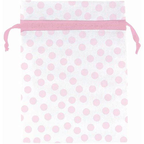 Organza Bags Pink Dots (12 ct)