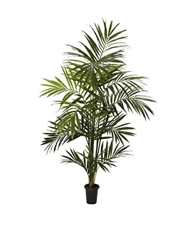 Nearly Natural Kentia Palm Silk Tree, Green
