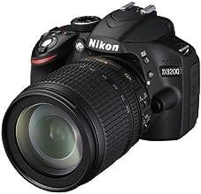 Nikon D3200 Fotocamera digitale reflex 24,2 Megapixel con Obiettivo Nikkor 18/105VR,SD 8GB Premium 100X Lexar [Nital card: 4 anni di garanzia]