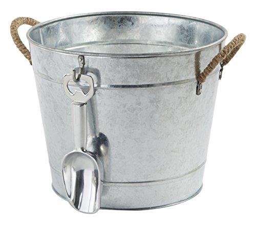 Mud Pie 3-in-1 Aluminum Party Bucket, Silver (Mud Pie Bucket compare prices)