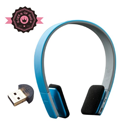 Bq618 Blue Bluetooth Headphones - Built In Microphone - High Quality Sound - Perfect Fit Sleek Design