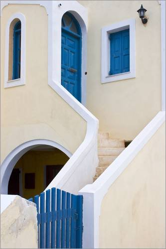 alu dibond 20 x 30 cm staircase leading from blue gate to. Black Bedroom Furniture Sets. Home Design Ideas