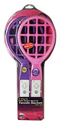 Wii Sports 2 Pack Pink & Purple Soft Foam Tennis Racket (compatible with Motion Plus)