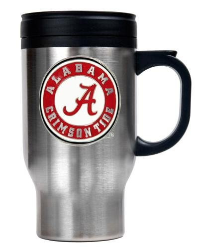 NCAA Alabama Crimson Tide 16-Ounce Stainless Steel Travel Mug at Amazon.com