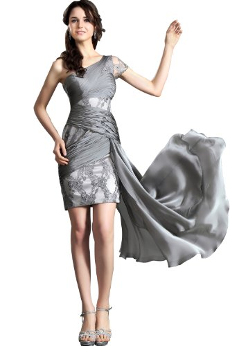 eDressit Noble Gray Lace Evening Dress Party Cocktail Gown, SZ14
