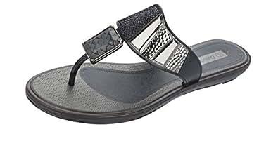 Grendha Allure Thong femmes Flip Flops / Sandals - noir Snake - SIZE EU 37