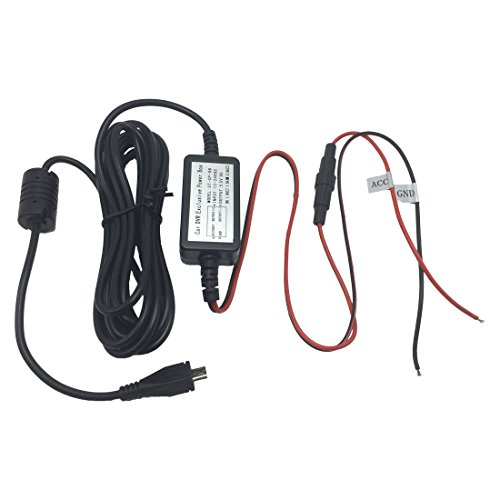 Arpenkin Micro USB Car Hard Wire Kit for Mini 0803 0805 0806 0826 Dashboard Camera Dashcam Car DVR Video Recorder Black Box (5v Mini Usb Direct Hardwire compare prices)