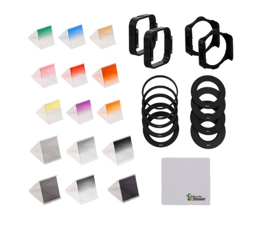 Bundle Monster Complete 29in1 DSLR Camera Lens ND Graduated Filter + Ring Accessory Set - Fits Cokin P Series