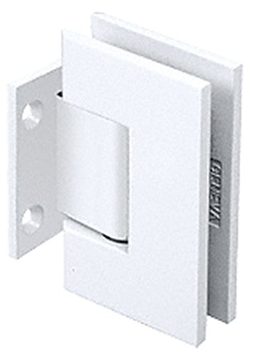Crl All White Geneva 074 Series Wall Mount Short Back Plate Hinge By Cr Laurence front-667272