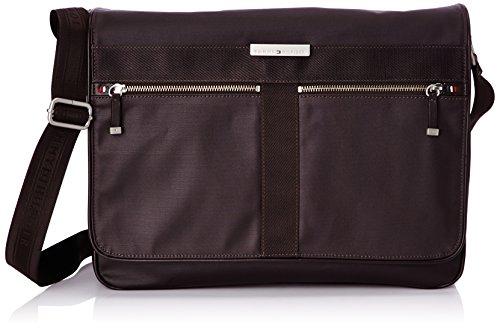 Borsa Tracolla Uomo Tommy Hilfiger Mod. Darren 14 '' Laptop-Messenger Bag i BM56924684 Col. Marrone.