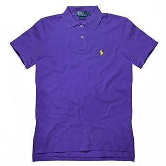 Ralph Laurent Men 39 S Custom Fit Polo T Shirt Purple