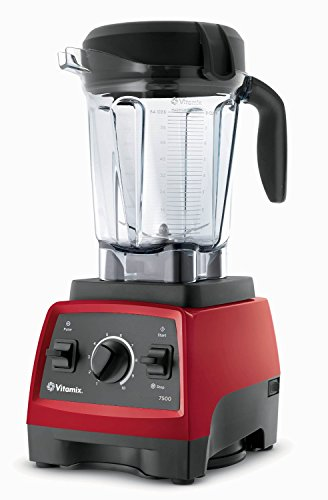 Discover Bargain Vitamix 7500 Blender with Low Profile Jar, 2.2 HP Motor, Red
