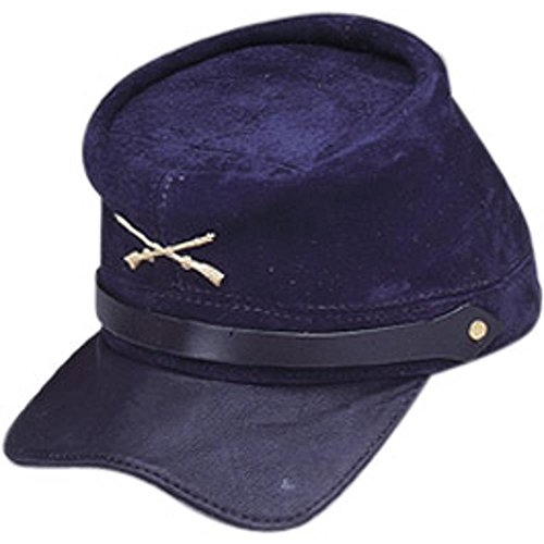 Adult Civil War Suede Union Costume Cap