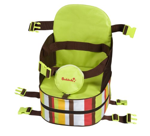 Badabulle Nomade B009401 Portable Booster Seat Chocolate / Anise