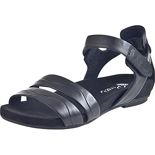 piazza damen slipper sandalen schwarz leder 910590 1. Black Bedroom Furniture Sets. Home Design Ideas