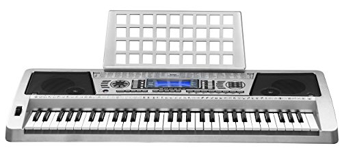 Best Prices! Knox Portable Music Keyboard with 61 Touch Sensitive Keys MIDI output and Power Adapter