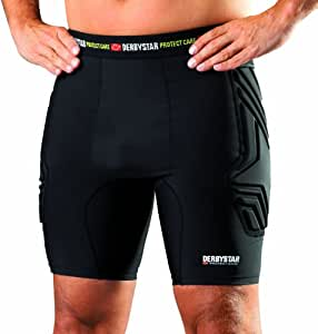 Derbystar Protect Care Sous-vêtement de compression rembourré pour gardien de but Noir Noir XX-Large
