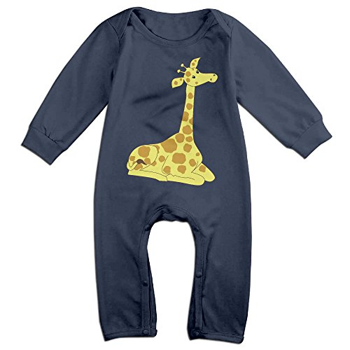 Posit-Babys-Giraffe-6-Boys-Girls-Kids-Creeper-Romper-Bodysuits-Jumpsuits-Size-US-Navy