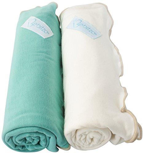 Primo Bebitza Antibacterial Baby Wraps, Teal Green/White