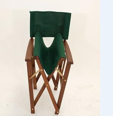 2x Regiesessel Regiestuhl Springfield, Eukalyptus + Stoff dunkelgrün, FSC®-zertifiziert von gartenmoebel-einkauf bei Gartenmöbel von Du und Dein Garten
