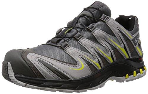 SalomonXA Pro 3D GTX® - Scarpe Running uomo, Grau (Autobahn/Aluminium/Corona Yellow), 44