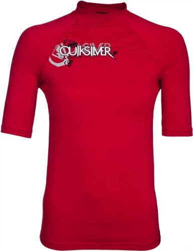 6oz Junior's Quiksilver Short Sleeve Rashguard - L