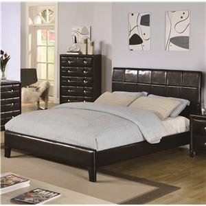micah upholstered bedroom set queen 202071q