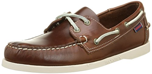 SebagoDocksides - Scarpe da Barca Uomo, Marrone (BROWN OILED WAXY), 46