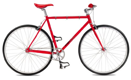 SE Draft Lite Fixed Single Speed Road Bike, Red, 49cm