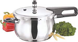 Vinod V-2.5L Splendid Plus Handi Stainless Steel Pressure Cooker, 2.5-Liter from Gandhi - Appliances