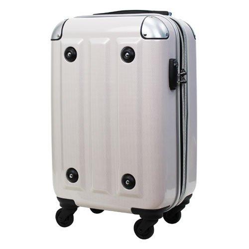 LEGEND WALKER スーツケース キャリーバッグ 4輪 TSAロック PC100%鏡面仕上 軽量 高品質 31L 国内線機内持込対応 (ホワイトカーボン)