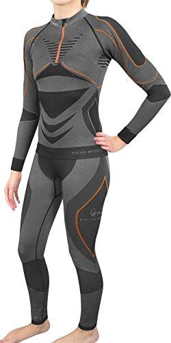 Damen Set Funktionsunterwäsche Polar Husky Thermoaktiv Atmungsaktiv Skiunterwäsche - Ski - Snowboard - Langlauf
