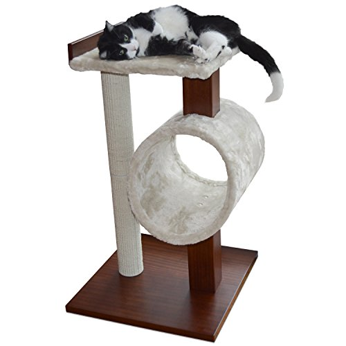 [NEW] PetFusion Modern Cat Activity Tree & Scratching Post. (Furniture Grade