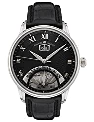 Men's Masterpiece Jours Retrograde Big Date Automatic Stainless Black Crocodile