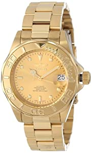 Invicta Men's 13929 Pro Diver Automatic Gold Dial 18k Gold Ion-Plated Stainless Steel Watch