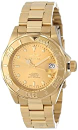Invicta Men's Automatic Watch with Gold Dial Analogue Display and Gold Stainless Steel Plated Bracelet 13929