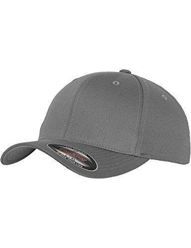 Flexfit Men's Hat Wooly Combed grey Dark grey Size:XXL (Youth) by Flex fit