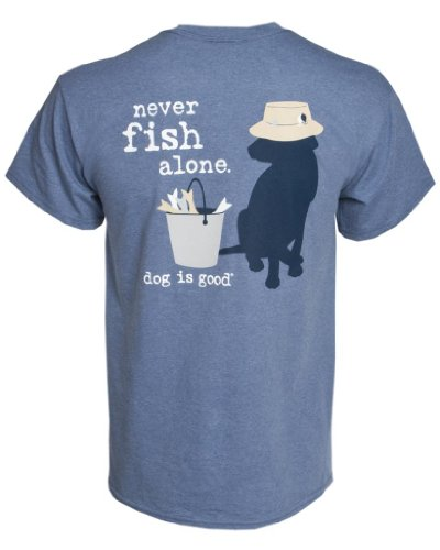 Dog is Good Tee: Never Fish Alone (unisex) (Fish Vet compare prices)