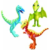 Le Dino Train - LC53053MP - Figurine - Pack 3 Personnages - Derek, Ollie, M. Ptéranodon