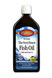 Carlson Labs Very Finest Fish Oil Nutritional Supplement, Lemon, 16.9 Fluid Ounce