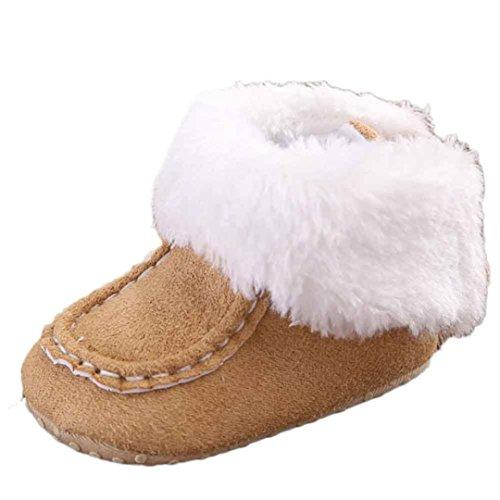 Scarpine Neonata,Xinantime Snow Boots Molli del Bambino Stivali Scarpe Bambino (12, Cachi)