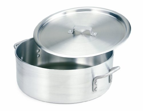 Crestware Extra Heavy Weight Aluminum Braziers with Pan Covers, 25 Quart