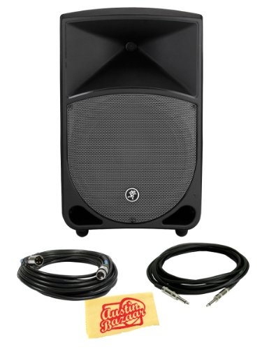 Mackie Thump Th-12A Two-Way Powered Loudspeaker Bundle With Xlr Cable, Instrument Cable, And Polishing Cloth