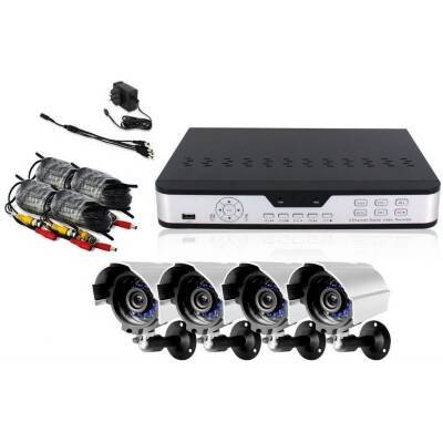 Zmodo PKD-DK0863-NHD 8 CH H.264 Surveillance DVR 4x Outdoor Night Vision Cameras w/ Bracket 4x Cable ***No Hard Drive ***