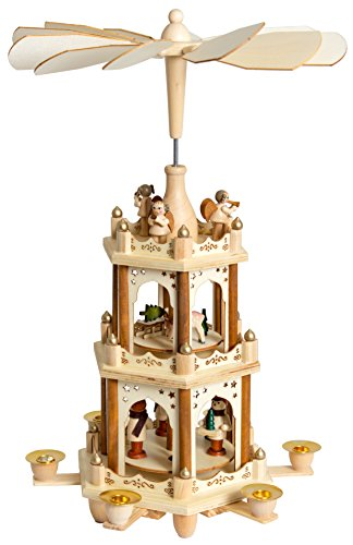 Brubaker-Christmas-Pyramid-Wooden-Three-Levels-Height-45-cm