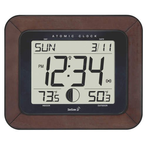 Skyscan 88901 Atomic Clock With Outdoor Temperature