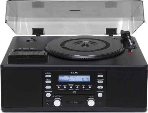 Teac LP-R500 Vinyl and Cassette Copy Station with AM/FM Radio - Black