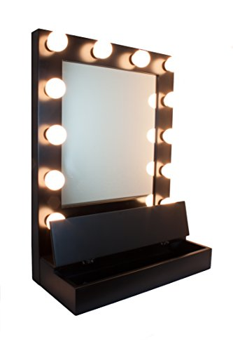 chic hollywood lighted makeup mirror lighted vanity mirror. Black Bedroom Furniture Sets. Home Design Ideas